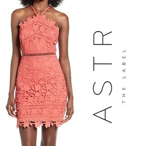 ASTR The Label Coral Lace Dress